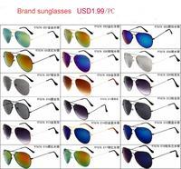 18 Colors New 2014 Fashion Vintage Coating Sunglasses Brand Designer Men Women Aviator Sun Glasses Oculos De Sol Gafas 30pcs/lot