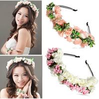 New 2014 Handmade DIY Flowers married the bride Headdress Pearl Wedding accessories Beach Tourism photo