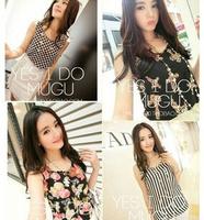 New 2014 Fashion Women Blouses Hot Selling Loose Animal/Flower Printed Chiffon Blouse Autumn-Summer Dot/Heart Sale Shirt QY3638