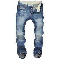 Drop shipping ,8207,2014 men's high quality fashion new designer famous brand pantalones hombre cotton pants free shipping