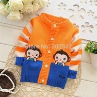 hot Children Sweater / Baby Sweater / Beautiful Warm Cartoon monkey Sweater / Baby cardigan Sweater ( 3 pcs / lot )