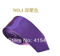 Free shipping hot sales silk neck tie for men / women, fashion New 2013 Skinny Tie for men 5cm Solid Color Plain Necktie