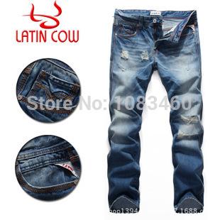Famous Brand jeans men designer denim pants ,classic cotton jeans men(China (Mainland))