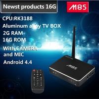 Newest Quad Core Android TV Box M8S RK3188 2G/16G Android 4.4 Kikat Bluetooth xbmc  Camera  Mic external antenna smart tv