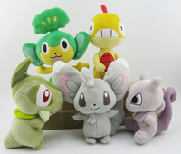 Pokemon Original pansage Axew Mewtwo Scraggy minccino Series Soft Plush Toys New