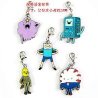 5 pcs/set Adventure Time Keychain Finn / Jake / BMO Phone Straps 5 Styles classic anime pendants free shipping