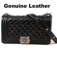 Genuine Leather Women Leather Handbags 2.55 Classic Plaid Chain Women Leather Shoulder Bag Designer Leather Women Messenger Bag