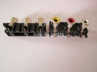 THREE RCA SOCKET ,AV3-8.4-5 angui   ,Customized welcomed