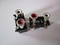TWO-RCA SOCKET ,AV2-8.4-5 angui   ,Customized welcomed