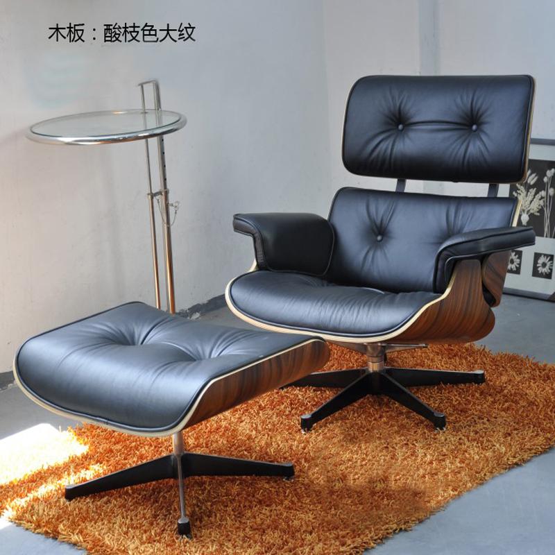 Especial poltrona Eames preguiçoso cadeira reclinável de couro cheia cadeira reclinável escritório designer de varanda cadeira de balanço Imperador(China (Mainland))
