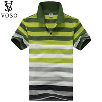 Voso summer male brief stripe turn-down collar short-sleeve original design unique plus size t-shirt shirt