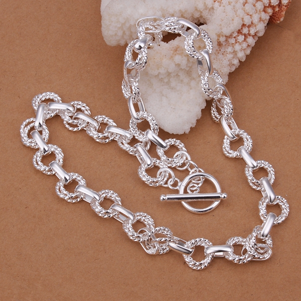 Free Shipping Wholesale Fashion Necklace 925 Sterling silver Necklace Nice Jewelry Good Quality YN338