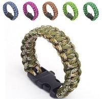Outdoor Bracelets Military strand paracord bracelet survival Strap Lifesaving bracelet mixture colors Buckle with whistle