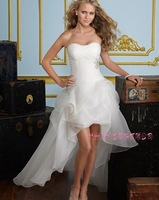 2014 Designers White Lace And See Through Beading A-line Wedding Dresses With Removable Train Bridal Dresses Tulle 648