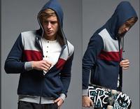 High quality autumn thin patchwork casual zipper hoody Sweatshirt jacket hoodie hoody coat for boy