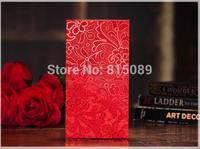 Wedding Favor Red Packet Money Envelope Gift bag Screen Printing Flower Pattern CHINA TRADITIONAL Wedding Supplies Free Shipping