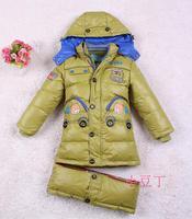 Children outerwear  fashion male child thickening medium-long parkas baby boy down jacket children's clothing Size110-120