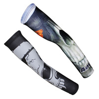 New Arrival  ! aogda Fire Eye Skull jersey cuff arm sleeve UV sunscreen outdoors Free shipping