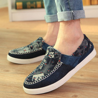 Free Shipping   Summer new arrival fashion male canvas shoes men breathable casual shoes the trend of low light single shoes