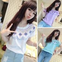 2014 new brand 100% HARAJUKU cotton plus size  loose short-sleeve o-neck geometry T-shirt female t-shirt 331 free shipping