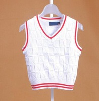 Wholesale - CHILDREN knit Vest SLEVEEless high quality V collar for 2-7T school boy and girls KIDS clothing FREE SHIPPING