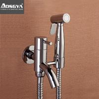 Copper toilet angle valve spray gun set vaginal douche bidet faucet