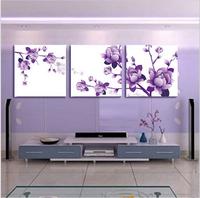 Purple flower cross stitch kit large cross stitching DIY handmade needlework wall home decor