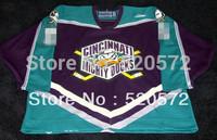 Womens - Custom Hockey 2013 Mighty Ducks Jerseys Green brown personalized - Cheap ICE Hockey Jersey Number & Nane Sewn O