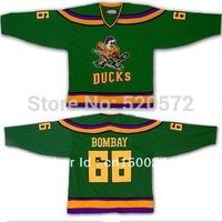 Womens -BOMBAY #66 Mighty Ducks Of Anaheim Hockey Jersey 1996 - Customized  (XXS-6XL)