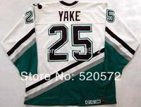Womens - Mighty Ducks Jerseys - Anaheim Hockey 1993-94 Terry Yake #25 Jersey - Customized Jersey  (XXS-6XL)