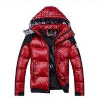 M-3XL, 2014 new mens fashion jackets cotton wadded shinning surface winter outwear man warm coat free shipping drop shipping