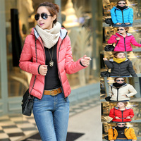 2014 New Arrival Women's Down Jacket parkas Winter Coat Warm Padded Parka Hoody Overcoat 7 color L-XXXL