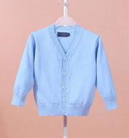 Wholesale - CHILDREN Cardigan Baby gir crochet colorful Cardigan fall knit kids girl tops LONG SLEVEE V-neck free shipping