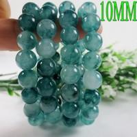 Factory price blue stones jade bracelet 10MM beads bracelets for women men jewelry aliexpress charm bracelet 0223
