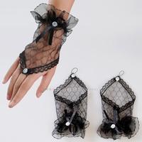 performing short yarn lace fingerless multicolor optional luvas casamento noivas wedding accessories