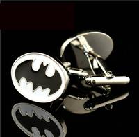 6pairs/lot Black/White Batman Superhero Cufflinks,  Free Shipping