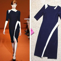 New 2014 Dress Women Summer Celebrity Vintage Shift Sheath Wear To Work Party Bodycon Knee-Length Pencil Dress Free Shipping