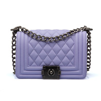 Chain series plaid messenger women bags with chain vintage  shoulder bag