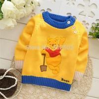 wholesale hot Baby cartoon Bears o-neck sweater./ Baby pullover Sweater .(  3 pcs / lot ) free shipping
