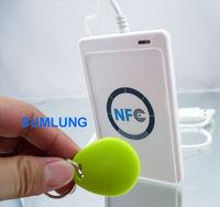 USB NFC Reader Writer ACR122U + SDK + Android apk + IC Card NFC Tag Sticker FeliCa DESFire Java .NET ISO14443 A&B RFID 13.56MHz