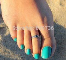 1PC Hot Punk Women Elegant Adjustable Antique Silver Metal Toe Ring Foot Beach Women Jewelry Drop Free