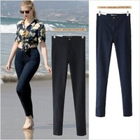 2014 New Fashion Women Pencil Pants High Waist Jeans Sexy Slim Elastic Jeans Skinny Pants Trousers Fit Lady jeans Women Jeans