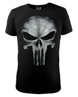 The Punisher Skull T Shirt Slim Black O-Neck Short Sleeve Tops Tees 2014 New Fashion Cotton T Shirt For women men Free Shipping