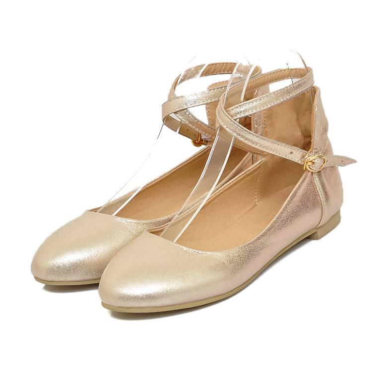 [해외]큰 크기 32-43 반짝이 춤 여성 신발 샌들 버클 스트랩 장식 조..