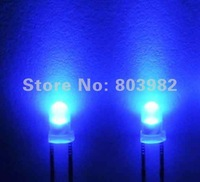Low price 3mm Blue led indicator Round diffused dip led 460-475nm 1000pcs free shipping