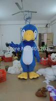 yellow peak blue bird mascot costumes white belly