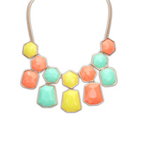 hot  2014 fahion jewelry women Delicate geometric stone necklace 12pcs/lot