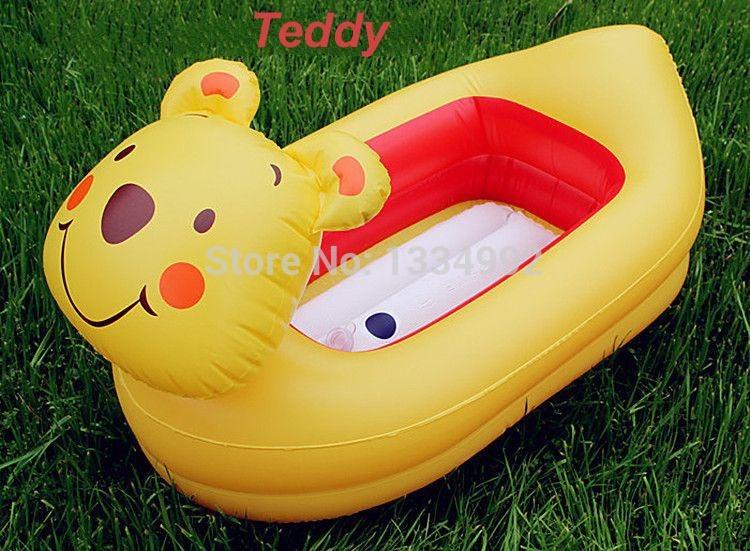Tinas De Baño Para Recien Nacidos:Inflatable Baby Bath Tub