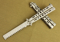 Free Shipping American Butterfly Knife Training Exercise Tool Knife Flail Butterfly-C35 Serrated Blade Is Not Open