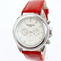 Women Simple Style Dress Watches Pu Leather Strap Alloy Case Relogio Feminino Brand 2014 New Fashion Free Shipping